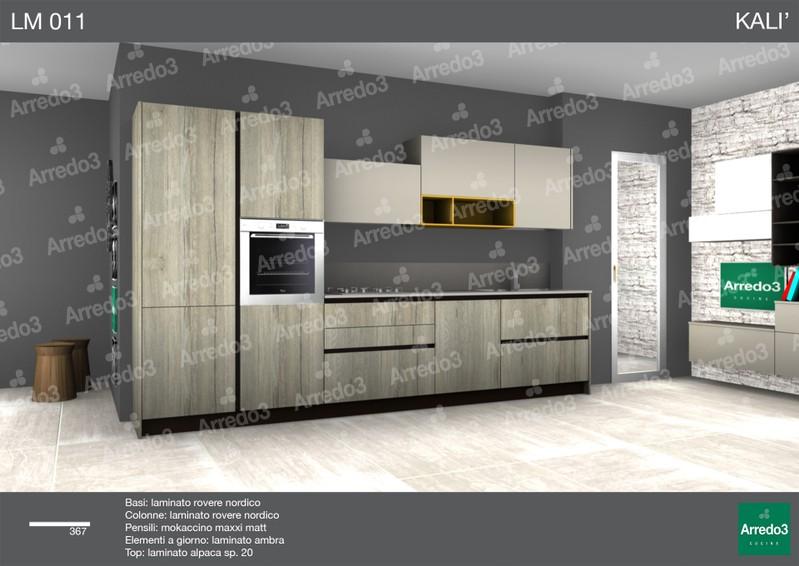progetto cucina Kali LM011 - arredamento cucine moderne Ernestomeda ...