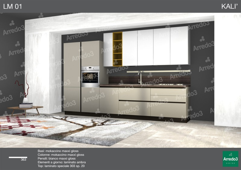 progetto cucina Kali LM01 - arredamento cucine moderne Ernestomeda ...