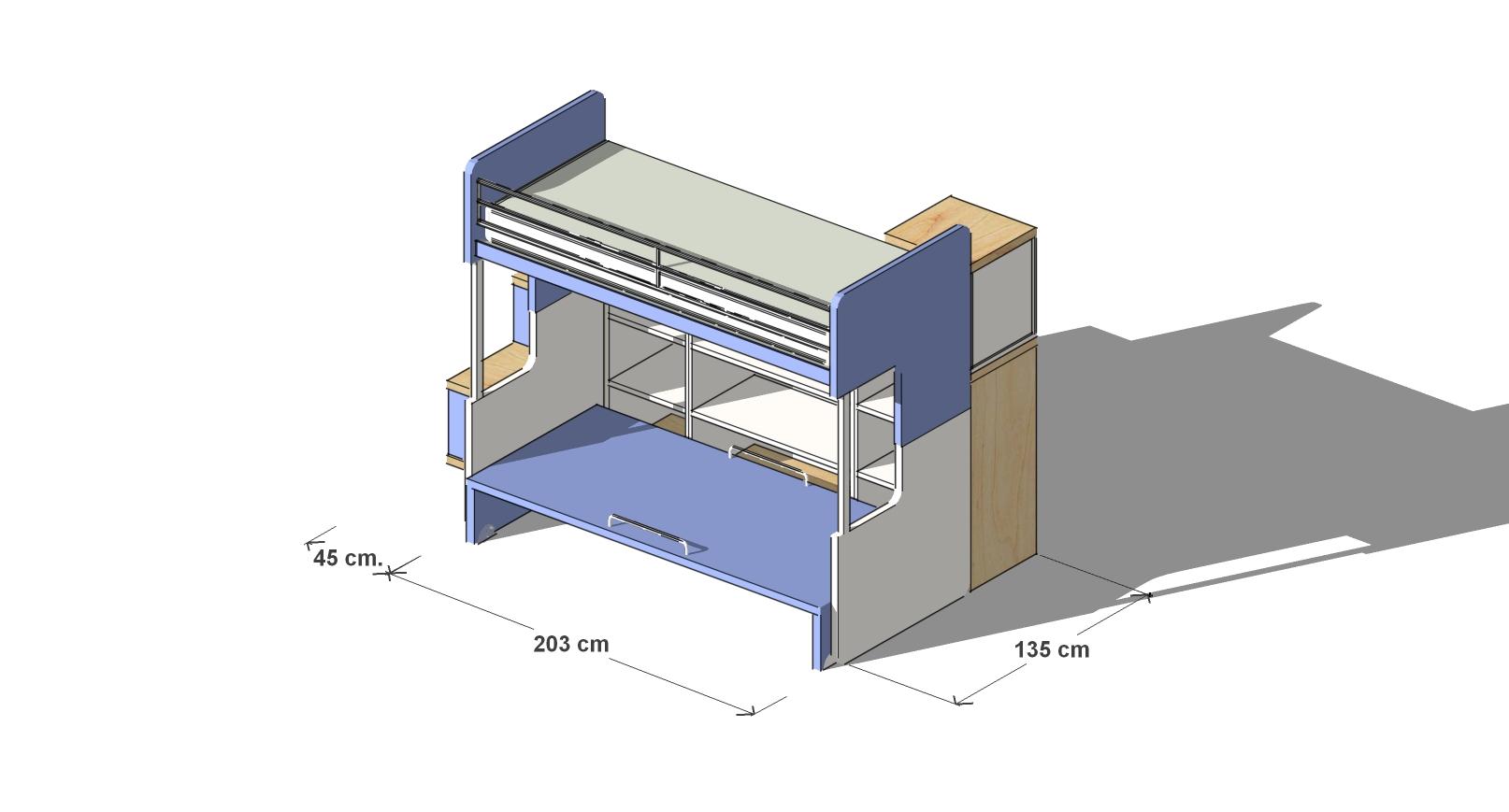 Dimensioni Letto A Castello.Cameretta Letto A Castello Luna 903 Arredamento Cucine Moderne