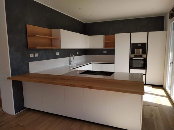 Cucine Moderne Legno E Bianco.Cucina Ernestomeda One Bianco Legno E Nero Cucine