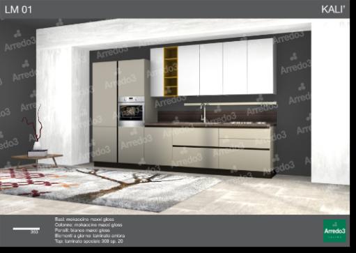 progetto arredamento cucina : progetto cucina Kali LM01