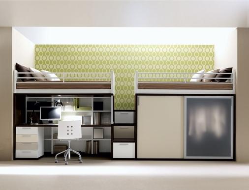 Letto A Castello Moderno.Cameretta Letto A Castello Combo Arredamento Cucine Moderne